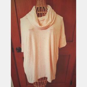 Lou & Grey Short Sleeve Cowl Neck Shirt, Size XS